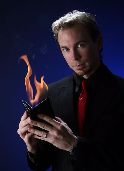A magician with a firey personality, Paphos party entertainment