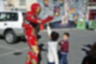 Kids love meeting Iron Man Cyprus chldrens party entertainment