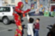 Kids love meeting Iron Man Cyprus chldrens party entertainment