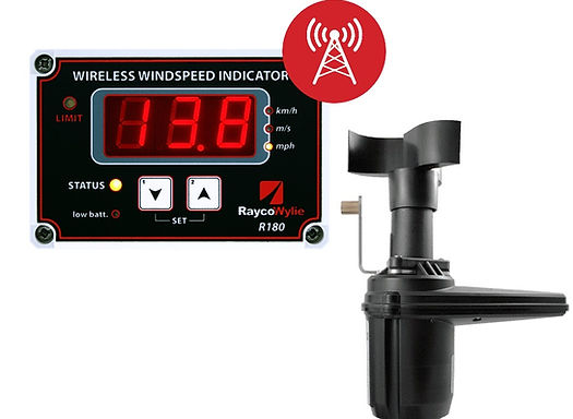 R180 Wireless Wind Speed Indicator Crane Safety Sensor