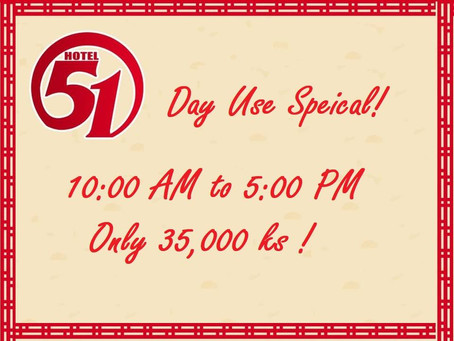 """Day Use Special"" Promotion!!!!"