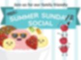 Postcard cover of Sundae Social event invitation