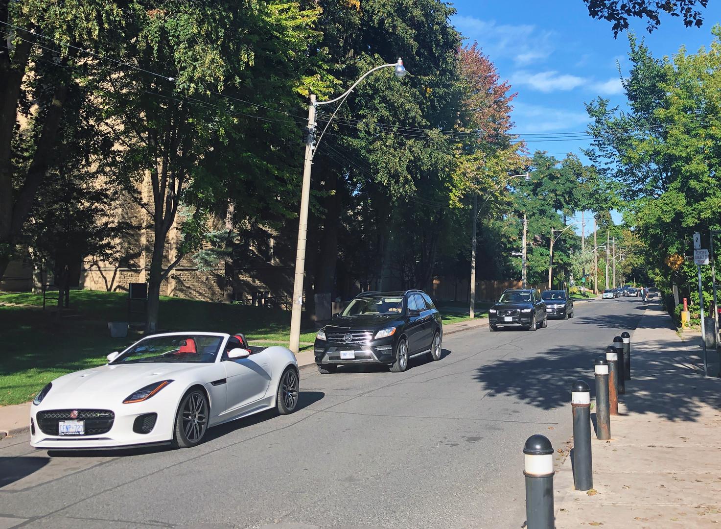 Looking east on Heath Street