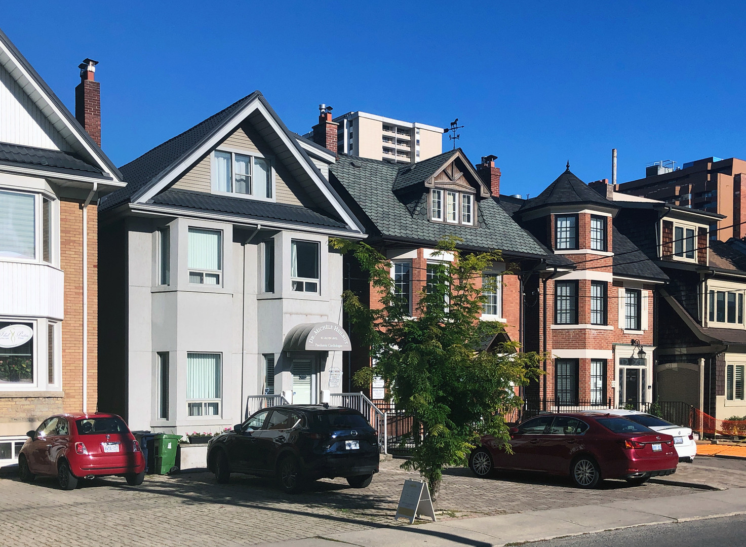 Businesses in single-detached houses along Heath Street