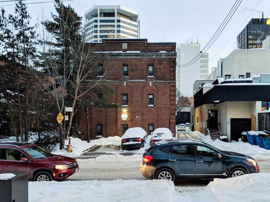 Buildings looking south on Heath Street