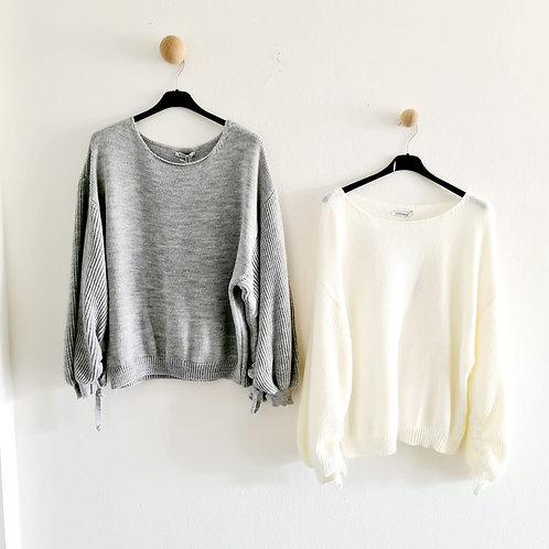 Pullover geraffter Arm
