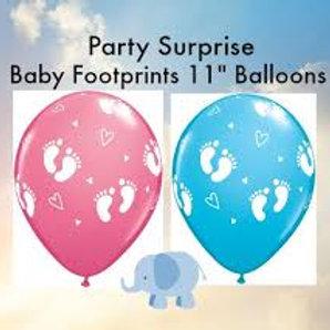 Latex Balloon with Baby Feet