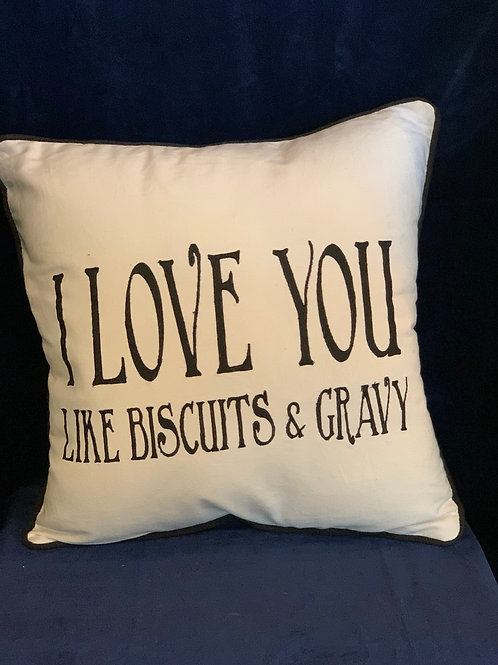 Biscuits and Gravy Pillow