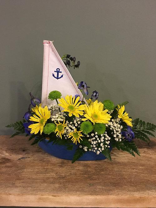 Sailboat Floral Arrangement