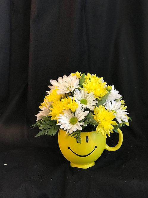 Smiley Face Floral Arrangement