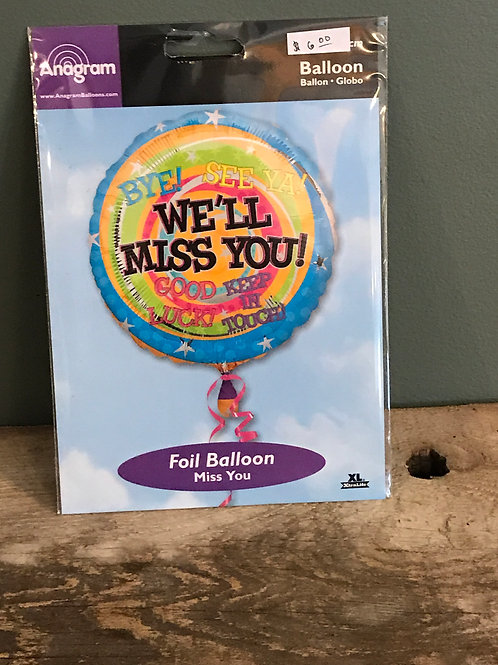 We'll Miss You Balloon