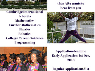 African Science Academy (ASA) Ghana admission process 2019/2020.