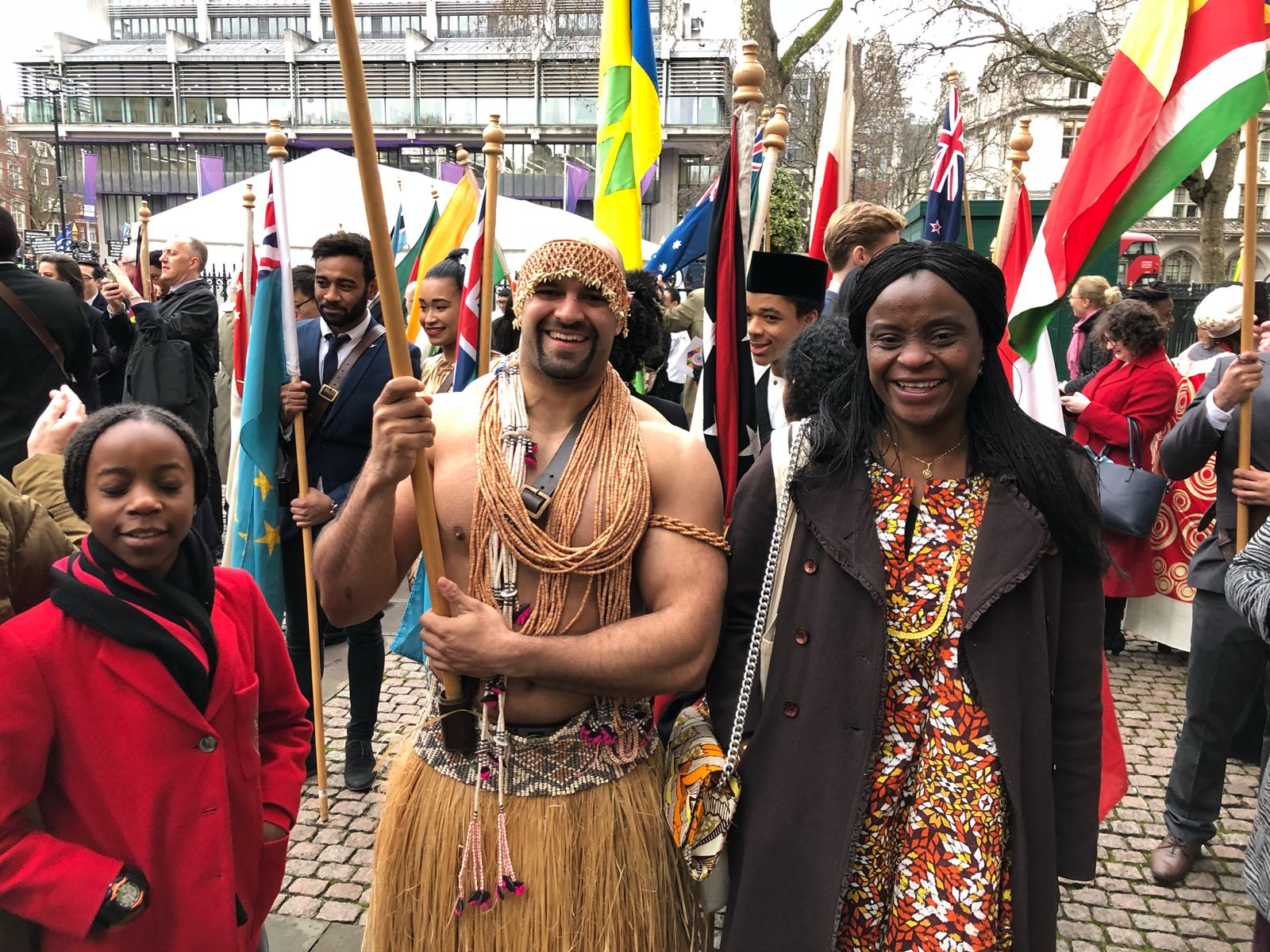 Solomon Island Flag bearer with Delegate