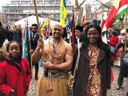 Solomon Island Flag bearer with Delegate