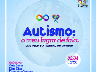 Live 03/04 - Autismo: o meu lugar de fala