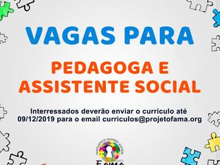 Projeto FAMA seleciona profissionais para sua Equipe