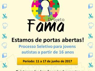 Projeto FAMA seleciona novos jovens para 2017.2