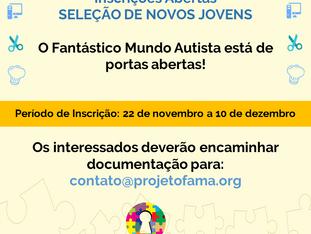 Processo Seletivo 2017: Projeto FAMA abre novas vagas
