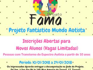 Projeto Fantástico Mundo Autista abre inscrições para novos alunos