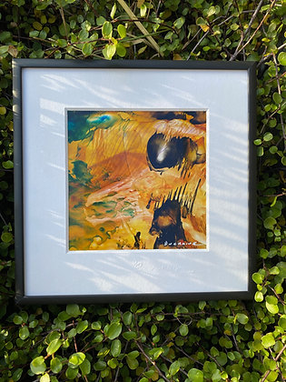 Peinture jaune abstraite