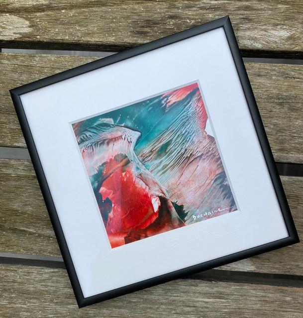 Peinture contemporaine abstraite sophie duchaine rouge et vert