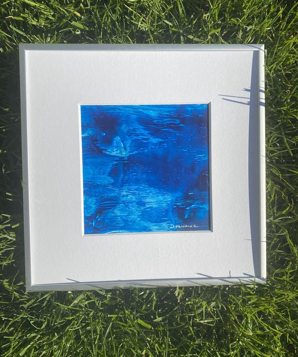 peinture bleue Sophie Duchaine