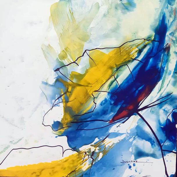Peinture graphique fleur