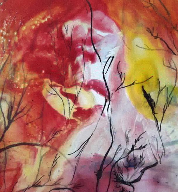 détail peinture contemporaine Sophie Duc