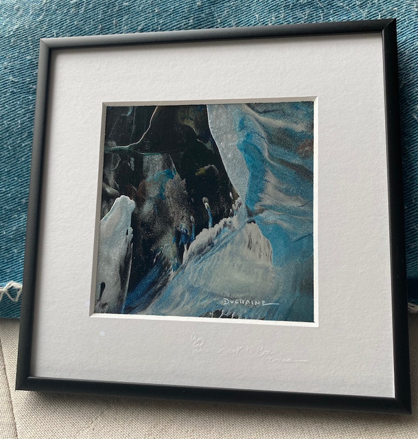 """Arctique ""peinture contemporaine par sophieduchaine."