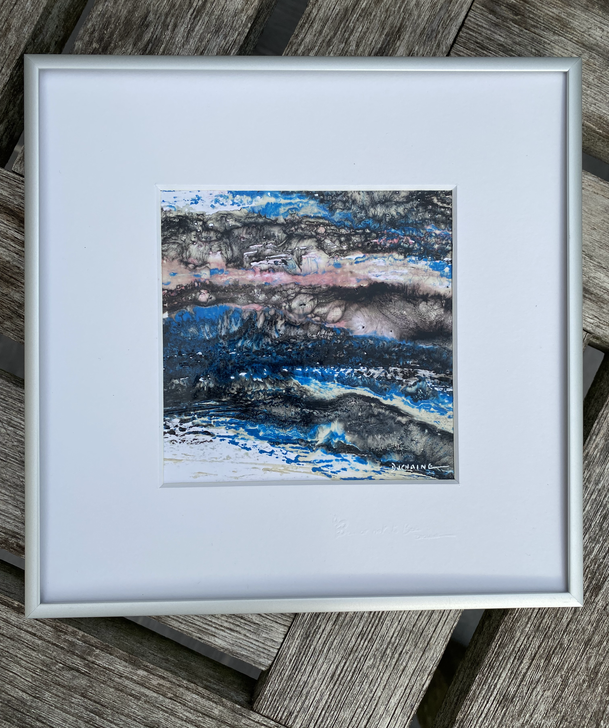 Peinture bleu contemporaine