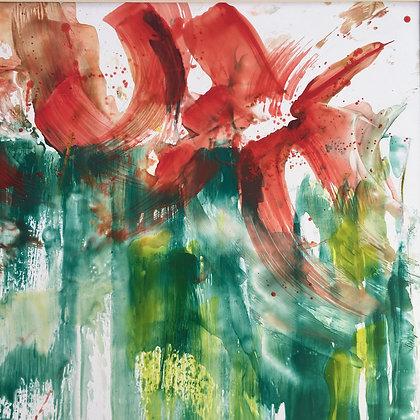 Fleurs rouges abstraite