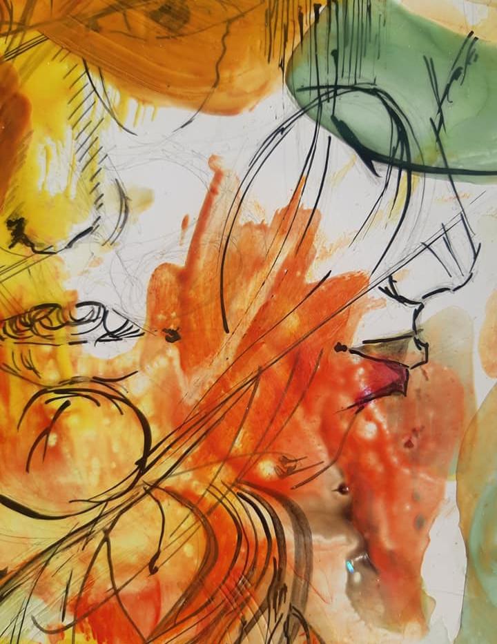 peinture contemporaine Sophie Duchaine .