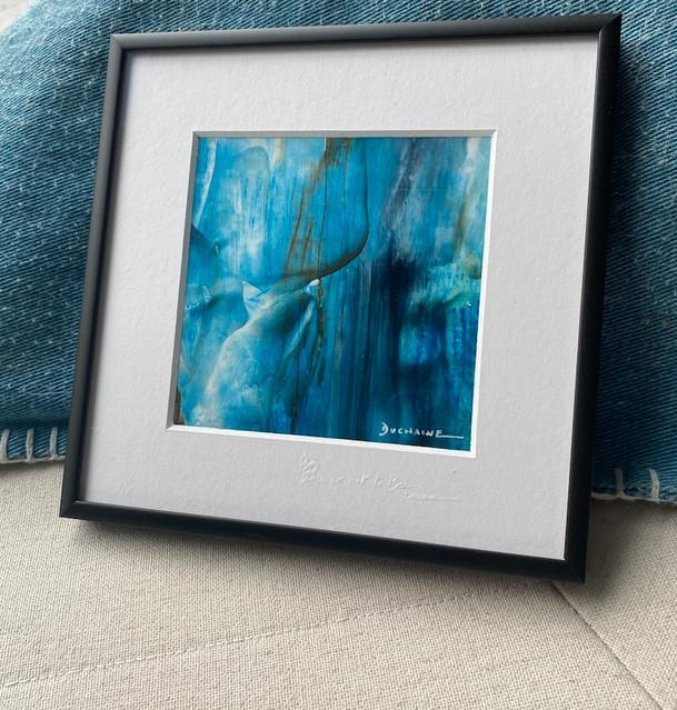 Peinture abstraite bleue Sophie Duchaine