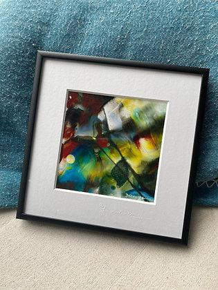 """""""CIRQUE"""" peinture abstraite colorée"""