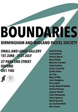 Birmingham and Midland Pastel Society - BOUNDARIES