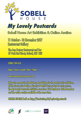 Sobell House Hospice Charity Exhibition and Online Auction - My Lovely Postcards