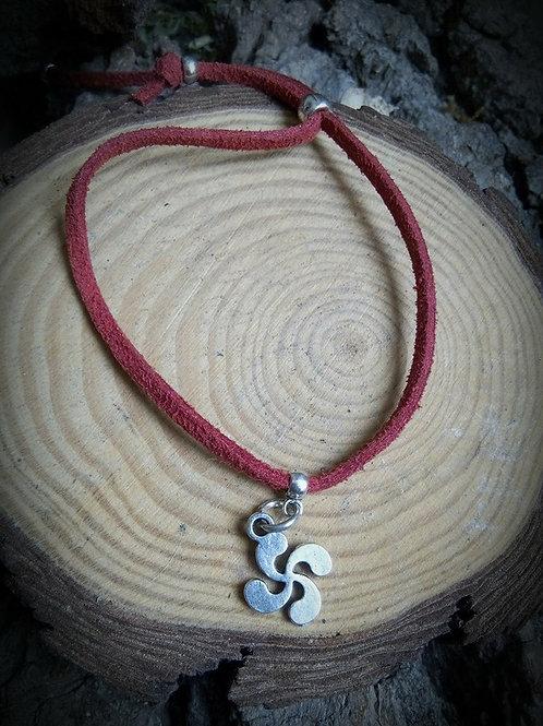 Bracelet réglable croix basque