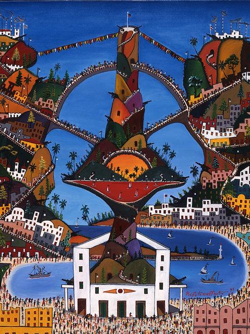 """HAITI Paper A  Prefete Duffaut (1923-2012)  """"Haiti Fortresse de La Paix"""""""