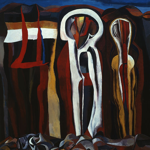 """SOUTH AFRICA Represented by  Cecil Skotnes (1926 - 2009) """"Ravine Wall"""""""