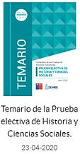 Temario PSU Electiva de Historia y CS 20