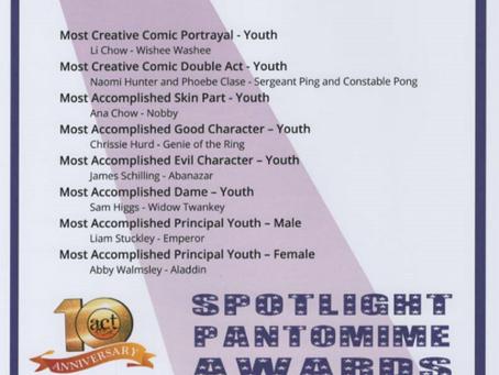 SPOTLIGHT PANTOMIME AWARDS 2021
