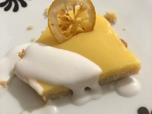 Lavender-Honey Lemon Tart