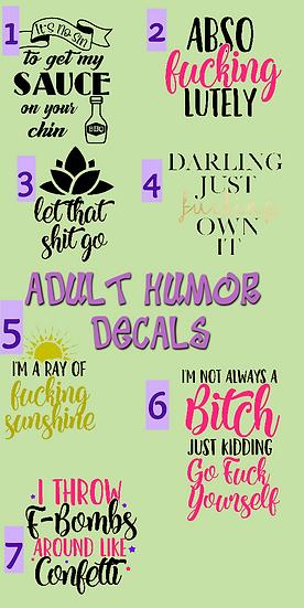 Customizable Adult Humor Tumbler