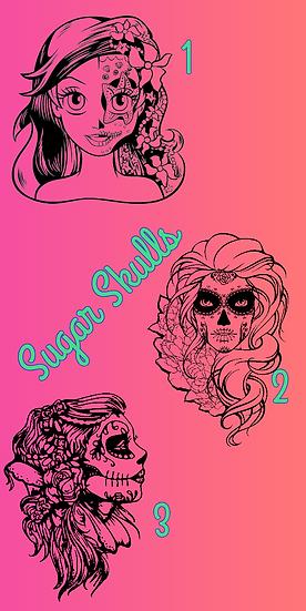Custom Sugar Skull Tumbler