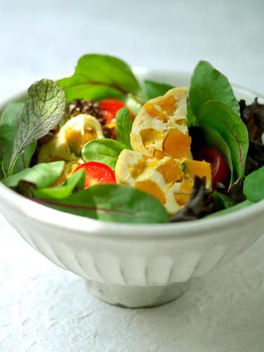 かぼちゃ豆腐のサラダ