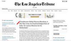 Shifuji Shaurya Bhardwaj the Loss Angeles Tribune