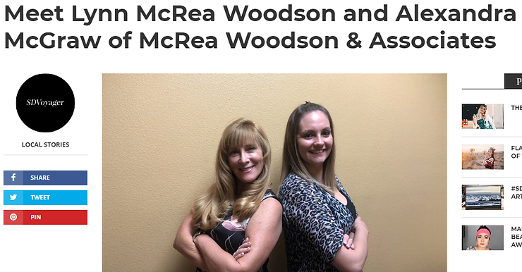 McRea Woodson and Associates article featuring Lynn Mcrea Woodson and Alexandra McGraw