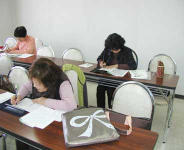 筆ペン教室様子7