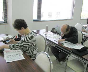 筆ペン教室様子6