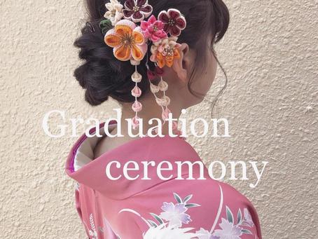 卒業式:美容室Brickブリックヘアサロン住之江区